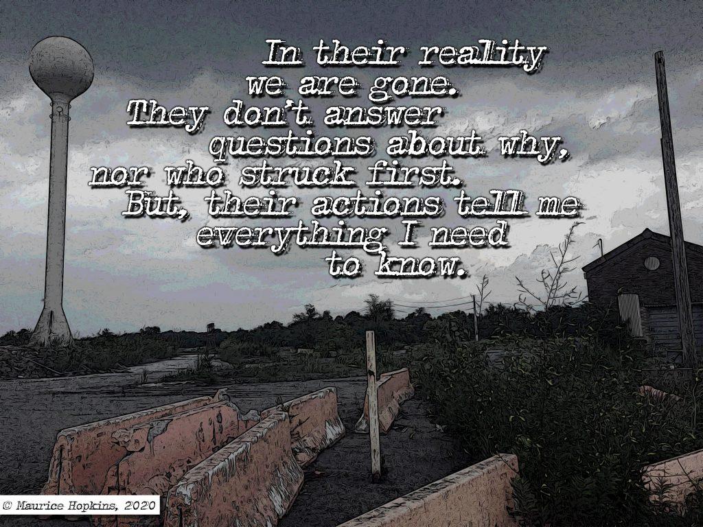 Empty Realities A Strange Signal